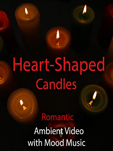 Heart-Shaped Candles Romantic Ambient Video with Mood Music