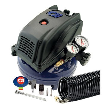 Campbell Hausfeld Fp260000Av 1 Gallon Air Compressor With Inflation Kit And Gaug, Hand Carry