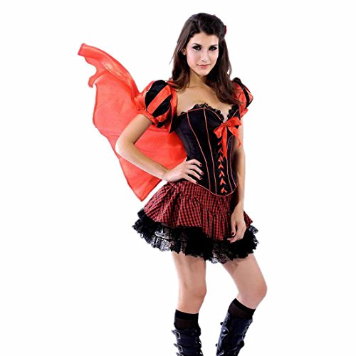 Dear-Lover Short Dress Jacket Red Riding Hood Cloak Adult Costume Red Black