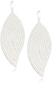 "Anna Beck Designs ""Bali"" Large Leaf Sterling Silver Earrings"