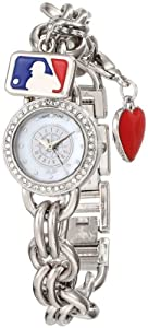 Game Time Ladies MLB-CHM-SEA Charm MLB Series Seattle Mariners 3-Hand Analog Watch by Game Time