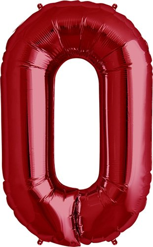 Letter O - Red Helium Foil Balloon - 34 inch - 1