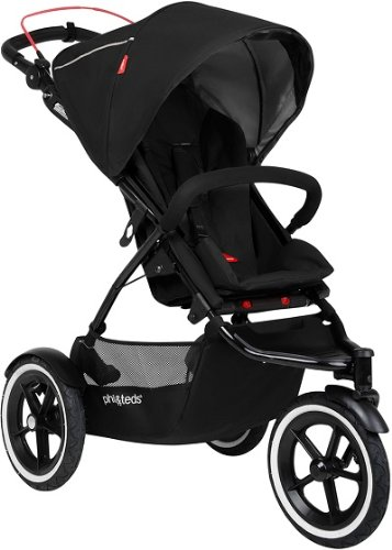 Phil & Teds Inline Black Compact Navigator Child Stroller W/ Auto Brake front-1013563