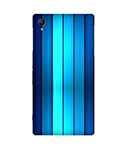 Blue Gradience Printed Back Cover Case For Sony Xperia Z1