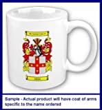 Crystal Family Coat of Arms Coffee Cup with Surname