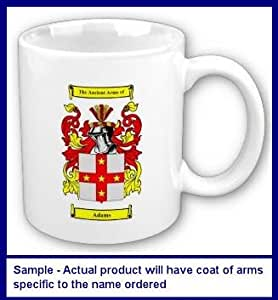 McXim Family Coat of Arms Coffee Cup with Surname