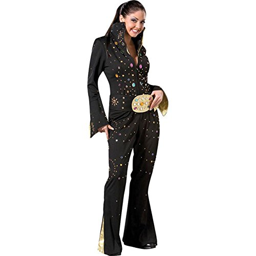 Women's Large Black Elvis Costume