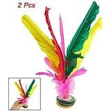 SODIAL(R) Colorful Feather Kick Shuttlecock Chinese Jianzi 2 Pcs