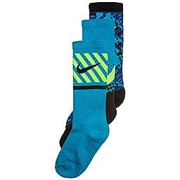 Nike Boys Graphic Cotton Cushion Crew 3 Pack Socks