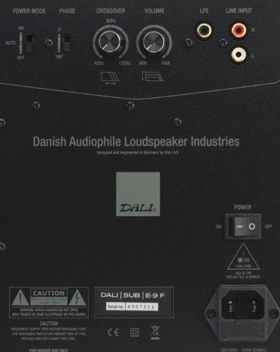 Dali E-9F subwoofer - subwoofers (Active, 37 - 200 Hz, Black)