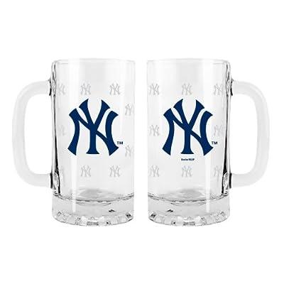 MLB 2-Pack Satin Etch Tankard Mug