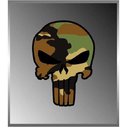 Amazon.com: The Punisher Skull Design US Army Camouflage Vinyl Decal