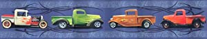 Hot Rod Trucks Cars Wallpaper Border