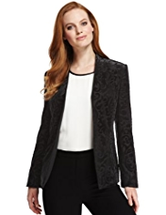 M&S Collection Open Front Devoré Soft Jacket