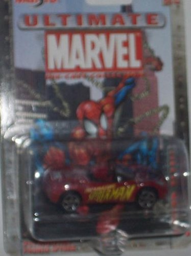Maisto Ultimate Marvel #24 Spider-Man Plymouth Pronto Spyder 1:64 Scale Diecast Car Spiderman - 1