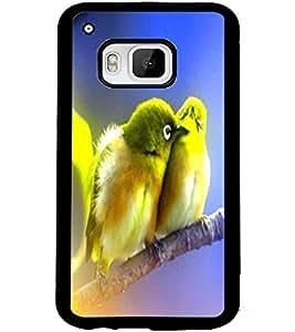 ColourCraft Love Birds Design Back Case Cover for HTC ONE M9