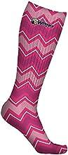 Wingate University Bulldogs Socks Chevron Pink Design pair