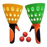 Ziweiba 知育玩具 ポンポンピンポン キャッチボール ボールカップホルダー*2 ボール*3セット