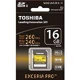 東芝 SDHCメモリーカード 16GB UHS-IIEXCERIA PRO SDXU-016GA