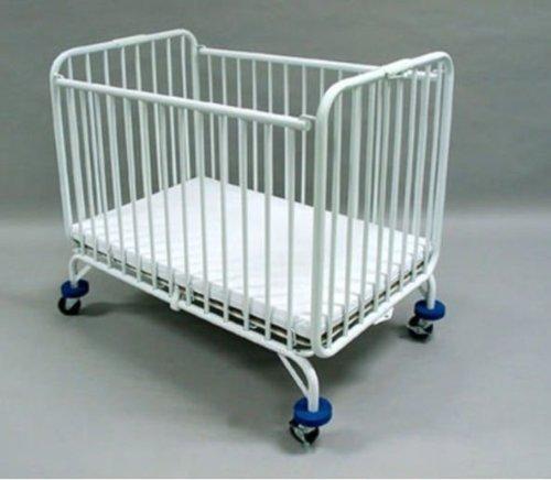 La Baby Compact Folding Metal Crib White Discount Niederros