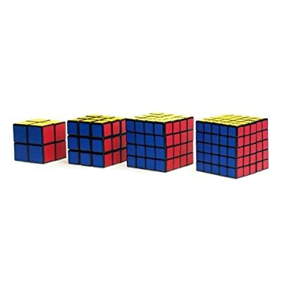 Black Cube Puzzle Bundle Pack,2x2x2,3x3x3,4x4x4,5x5x5 Set,shengshou Speed Cube Collection from Shengshou