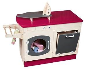 Meuble lingerie lave linge en bois jouet jeux et jouets - Meuble dessus lave linge ...