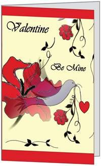 Valentines Day Love Be Mine Spouse Husband Lover Sweetheart Wife Greeting Card 5x7 by QuickieCards