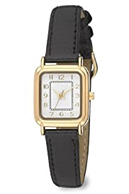 Rectangular Face Classic Strap Watch