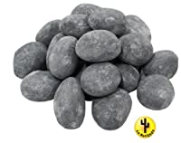 24 x CERAMIC PEBBLES GREY FOR BIO ETHANOL FIREPLACE GEL BURNER FIRE 59202