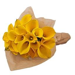 Yellow Calla Lily Bouquet, Callafornia Callas