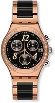 Swatch YCG404G dream night black dial stainless steel bracelet women watch NEW