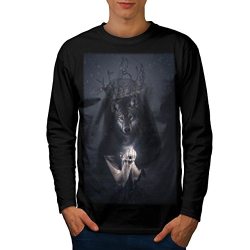 [Big Bad Wolf Woman Men NEW Black S Long Sleeve T-shirt | Wellcoda] (Big Bad Wolf Outfit)
