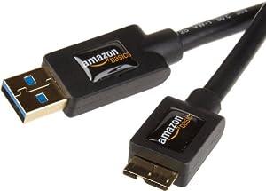 AmazonBasics Câble USB 3.0 mâle A vers micro B 0,9 m
