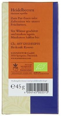 Sonnentor Heidelbeeren, 1er Pack (1 x 45 g) - Bio von Sonnentor auf Gewürze Shop