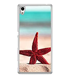 Red Star Fish 2D Hard Polycarbonate Designer Back Case Cover for Sony Xperia Z3+ :: Sony Xperia Z3 Plus :: Sony Xperia Z3+ dual :: Sony Xperia Z3 Plus E6533 E6553 :: Sony Xperia Z4