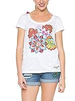 Desigual Camiseta Manga Corta (Blanco)