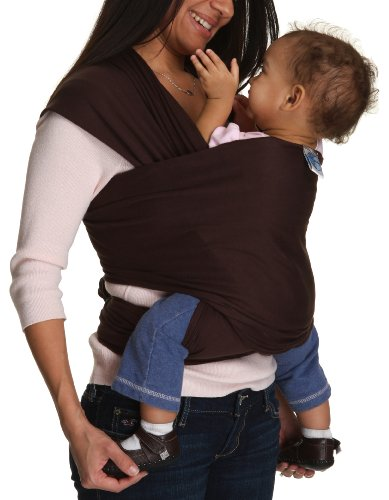 Moby Wrap Original 100% Cotton Baby Carrier, Chocolate
