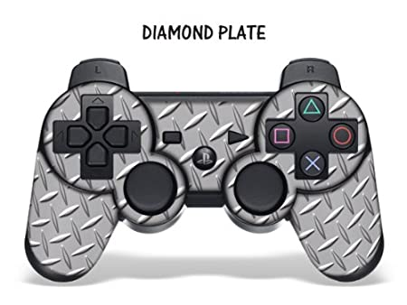 Designer Skin for Playstation 3 Remote Controller - Diamondplate Silver