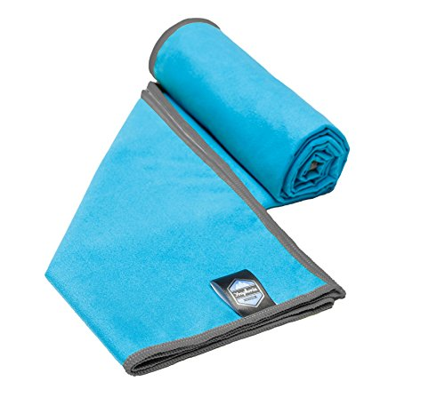 Youphoria Sport Towel and Travel Towel - Super Absorbent and Quick Drying! Camping, Beach, Pool, Gym or Bath. 100% Satisfaction Guarantee! (Blue/Gray, 28