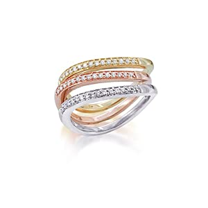 tri color gold stackable rings