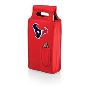 NFL Houston Texans Samba 2-Bottle Neoprene Wine Tote Bag, Red by Picnic Time