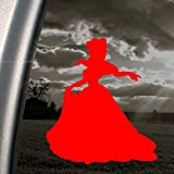 Disney Red Decal Cinderella Car Truck Window Red Sticker
