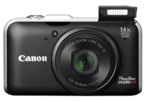 "Canon Powershot SX230 HS - Cámara compacta de 12 Mp (pantalla de 3"", zoom óptico 14x, estabilizador de imagen ) color negro (importado)"