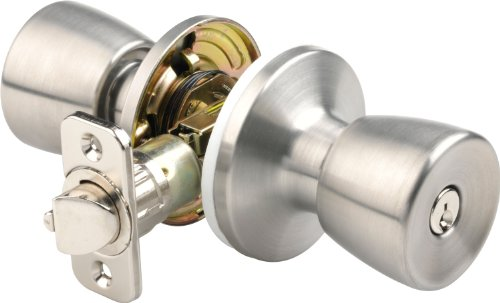 Brinks 2710 130 Mobile Home Keyed Entry Tulip Style Door Knob Stainless Steel Hardware Building