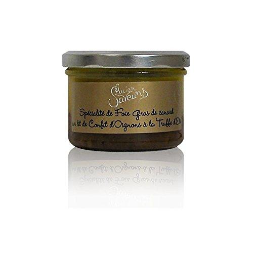 Lot de 2 Spécialité de foie gras de canard sur lit de confit d'oignons à la truffe d'été 180g
