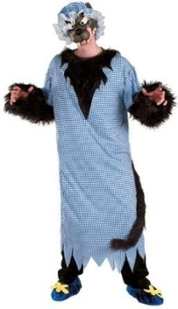 Big Bad Wolf Costume - In Granny Nightgown!