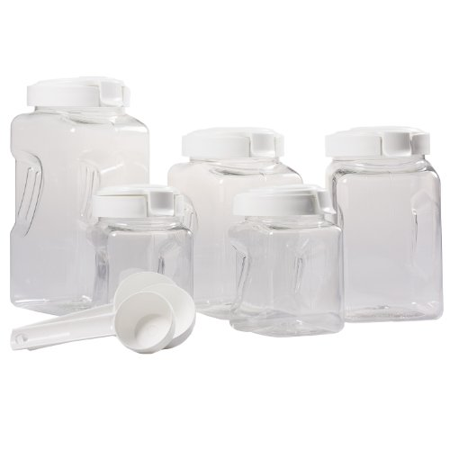Snapware Airtight 10 piece Plastic Canister Set