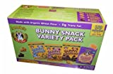 Annies Bunny Snack 1 oz Bags Variety Pack (8 Chocolate Chips Bunny Grahams, 8 Chocolate Bunny Grahams, 8 Honey Bunny Grahams, 12 Cheddar Bunnies Crackers), 36-Count