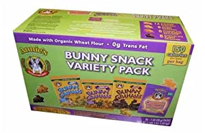 Annie's Bunny Snack 1 oz Bags Variety Pack (8 Chocolate Chips Bunny Grahams, 8 Chocolate Bunny Grahams, 8 Honey Bunny Grahams, 12 Cheddar Bunnies Crackers), 36-Count