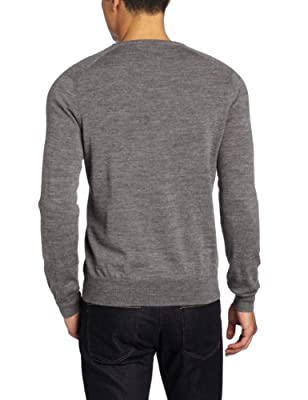 Calvin Klein Men's Tipped Merino Crew Neck Sweater